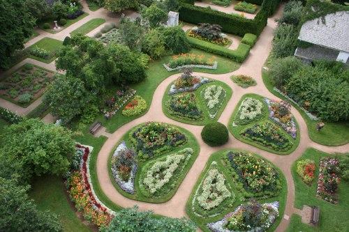historic gardens aerial view of the victorian garden - Garden Design Birds Eye View